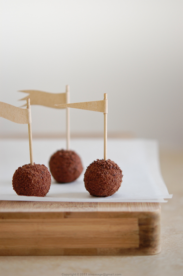 Sinemage Flagged Chestnut and chocolate truffles