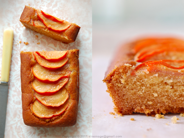 Sinemage Gluten and Dairy Free Express Cake with Persimmon