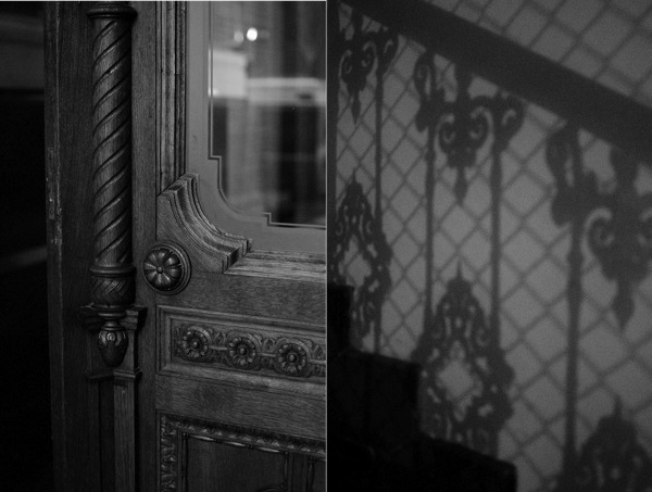 © 2012 Viviane Perenyi - Detail Door & Staircase Shadows Budapest Hungary