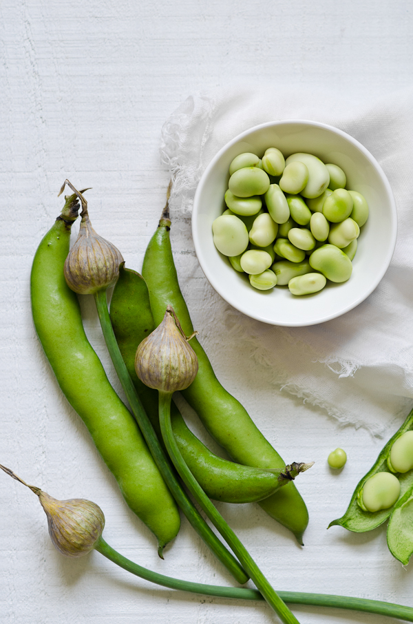 Broad Beans and Garlic Spears | At Down Under | Viviane Perenyi
