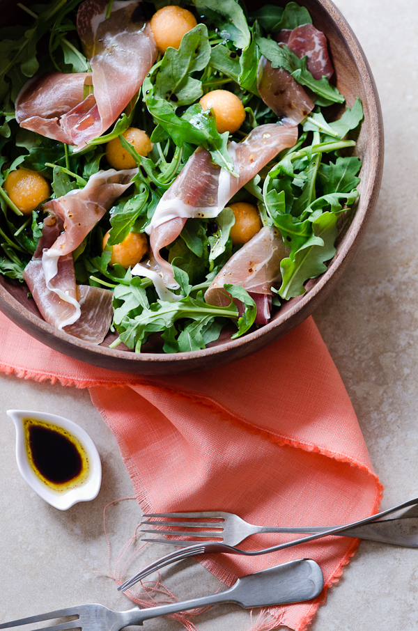 Rockmelon Prosciutto and Rocket Salad | At Down Under | Viviane Perenyi