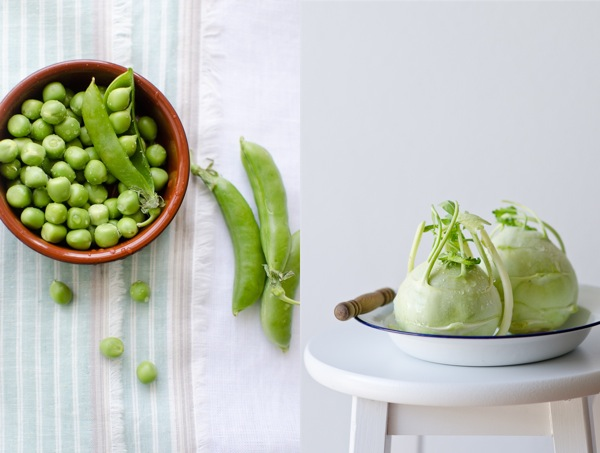 Peas and Kohlrabi | At Down Under | Viviane Perenyi