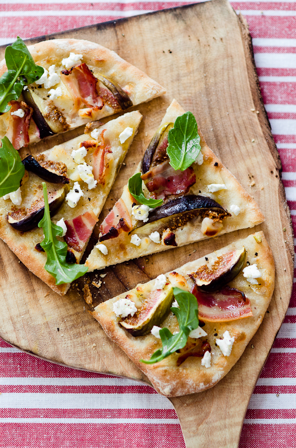 Fig Goat Cheese and Speck Pizza | At Down Under | Viviane Perenyi